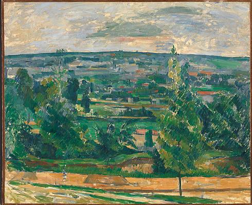 Landscape from Jas de Bouffan Print by Paul Cezanne
