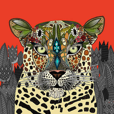 Wild Flower Drawing - Leopard Queen Coral by MGL Meiklejohn Graphics Licensing