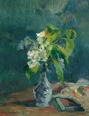 Lilacs Print by Paul Gauguin