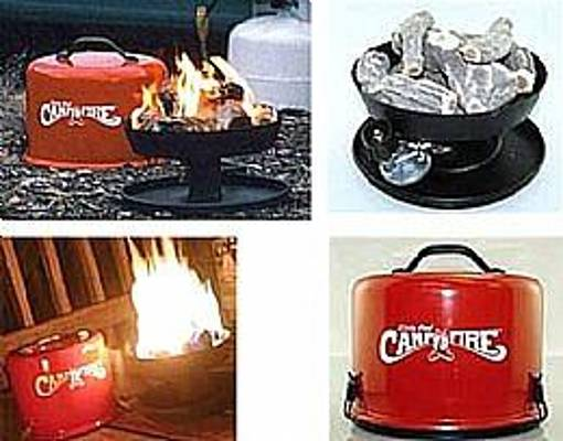 Little Red Portable Campfire By Camco Painting By John Zahn