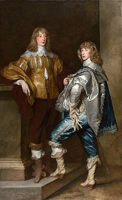 Lord John Stuart and his Brother Lord Bernard Stuart Print by Anthony van Dyck