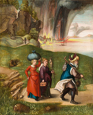 Lot and His Daughters Print by Albrecht Duerer