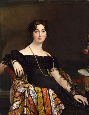 Madame Jacques-Louis Leblanc. Francoise Poncelle Print by Jean-Auguste-Dominique Ingres