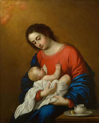 Madonna and Child Print by Francisco de Zurbaran