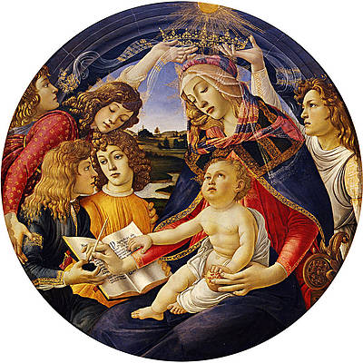 Madonna of the Magnificat Print by Sandro Botticelli
