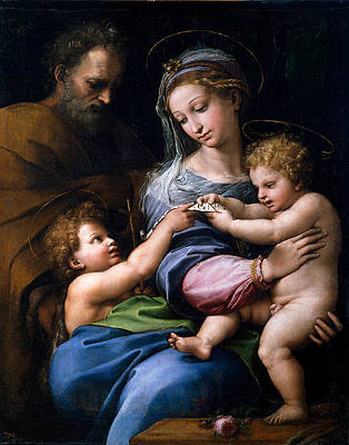 Madonna of the Rose Print by Raphael
