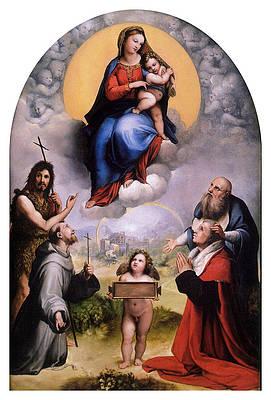 Madonna von Foligno Print by Raphael