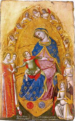 Marriage of St Catherine Print by Lorenzo Veneziano