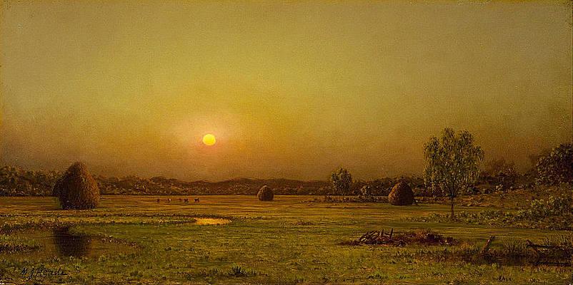 Marsh Sunset Newburyport Massachusetts Print by Martin Johnson Heade