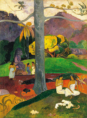 Mata Mua.In Olden Times Print by Paul Gauguin
