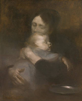 Maternity. Tenderness Print by Eugene Carriere