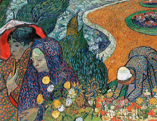 Memory of the Garden at Etten. Ladies of Arles Print by Vincent van Gogh