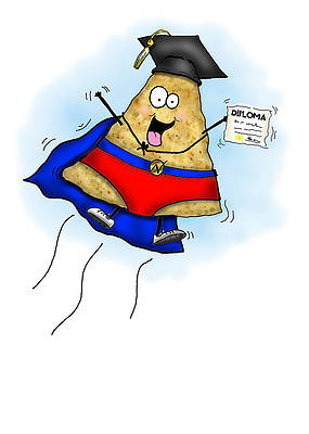 Graduation Cap Drawing - Nacho Average Graduate Card by Nicole Spencer