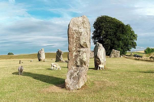 Art On Slate Avebury//Stonehenge//Standing Stones Slate Wall Hanging New