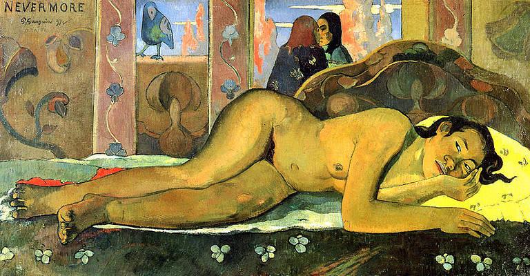 Nevermore.O Taiti Print by Paul Gauguin