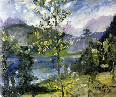 October Snow at the Walchensee Print by Lovis Corinth
