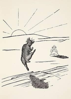 Wild Flower Drawing - Old Man Kangaroo by Rudyard Kipling