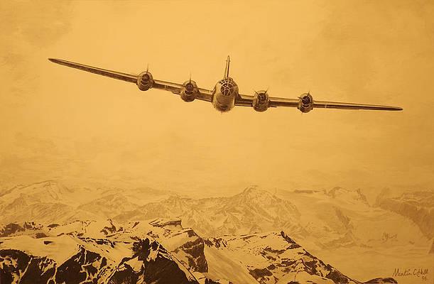 Boeing B-29 Superfortress Large Million Dollar Baby by Mark Karvon