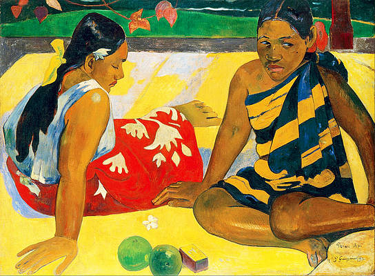 Parau Api. What News Print by Paul Gauguin