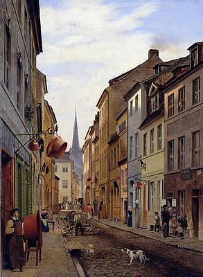 Parochialstrasse Print by Eduard Gaertner