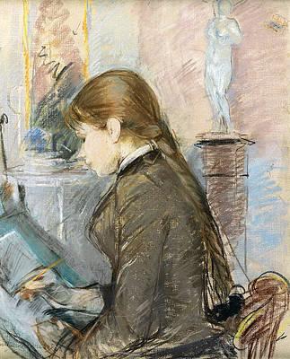 Paule Gobillard Drawing Print by Berthe Morisot