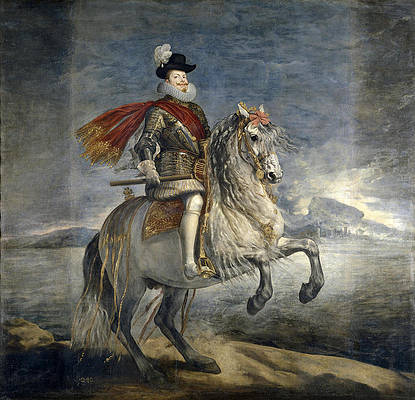 Philip III on Horseback Print by Diego Velazquez