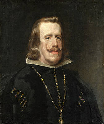 Philip IV of Spain Print by Diego Velazquez