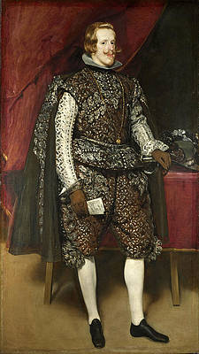 Philip IV of Spain in Brown and Silver Print by Diego Velazquez