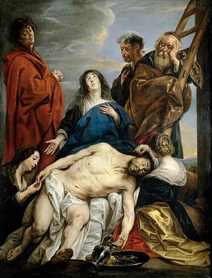 Pieta Print by Jacob Jordaens