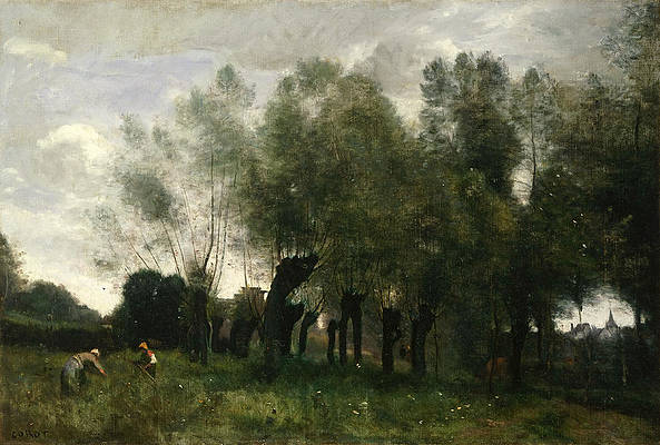 Pollard Willows Print by Jean-Baptiste-Camille Corot