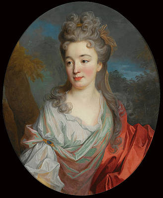 Portrait of a Lady Print by Jean-Baptiste Oudry