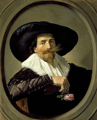 Portrait of a Man. Pieter Tjarck Print by Frans Hals