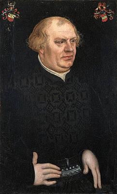 Portrait of a Man probably Johann Feige Print by Lucas Cranach the Elder