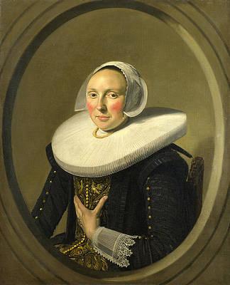 Portrait of a Woman. Marie Larp Print by Frans Hals