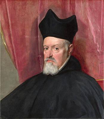 Portrait of Archbishop Fernando de Valdes Print by Diego Velazquez