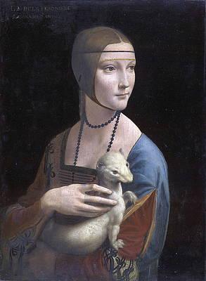 Lady with an Ermine.Portrait of Cecilia Gallerani Print by Leonardo da Vinci