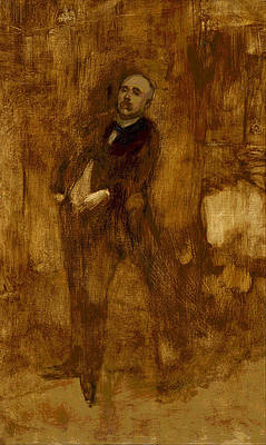 Portrait of Clemenceau Print by Eugene Carriere