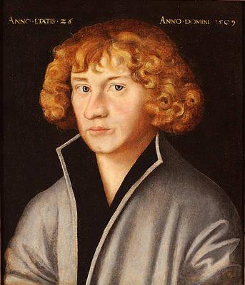 Portrait of Georg Spalatin Print by Lucas Cranach the Elder