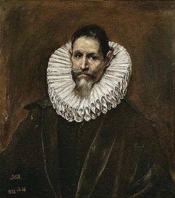 Portrait of Jeronimo Cevallos Print by El Greco