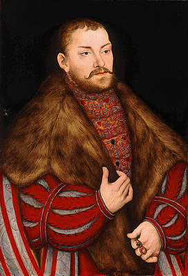 Portrait of Joachim II Elector of Brandenburg Print by Lucas Cranach the Elder