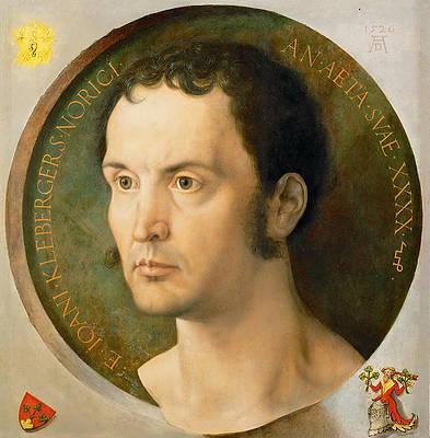 Portrait of Johannes Kleberger Print by Albrecht Duerer