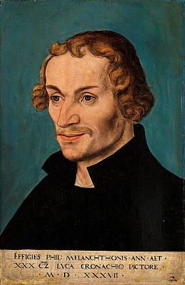 Portrait of Philipp Melanchthon Print by Lucas Cranach the Elder