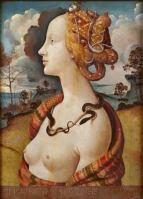 Portrait of Simonetta Vespucci Print by Piero di Cosimo