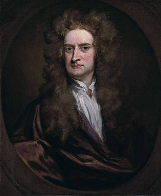Portrait of Sir Isaac Newton Print by Godfrey Kneller
