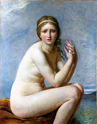 Psyche Abandoned Print by Jacques-Louis David