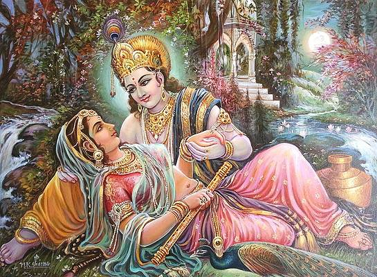 radha krishna oil canvas painting mayur sharma