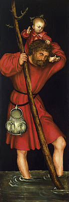 Saint Christopher Print by Lucas Cranach the Elder
