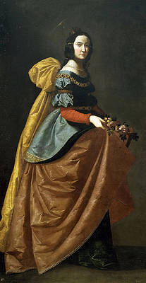Saint Elizabeth of Portugal Print by Francisco de Zurbaran