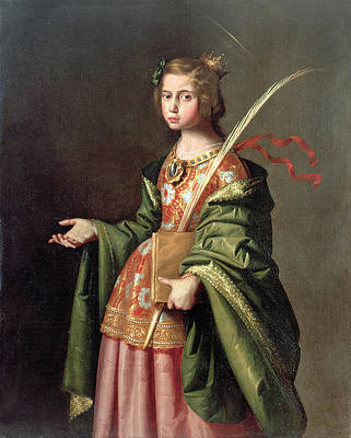 Saint Elizabeth of Thuringia Print by Francisco de Zurbaran