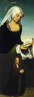 Saint Elizabeth with Duke George of Saxony as Donor Print by Lucas Cranach the Elder